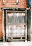 Tekowy drewniany Stary duży drzwi fotografia stock
