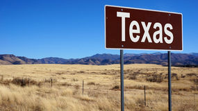 Teksas brown drogowy znak Zdjęcia Stock