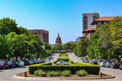 Teksas Capitol budynek od uniwersyteta teksańskiego Zdjęcie Royalty Free