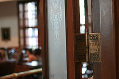 Teksas capitol znak na drzwi obrazy stock