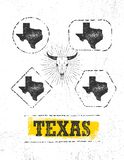 Teksas dumy Grunge Szorstka Wektorowa Ilustracyjna ilustracja Na Pobrudzonym Ściennym tle ilustracja wektor