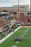 Teksas longhornów szkoły wyższa mecz futbolowy obraz stock