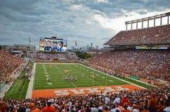 Teksas longhornów szkoły wyższa mecz futbolowy Zdjęcie Royalty Free