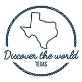 Teksas mapy kontur Rocznik Odkrywa świat royalty ilustracja