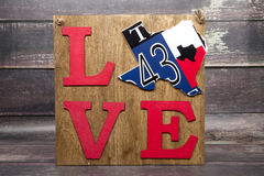 Teksas miłość obraz stock