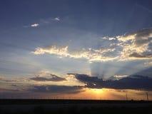 Teksas niebo Obraz Royalty Free