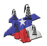 Teksas olej ilustracja wektor