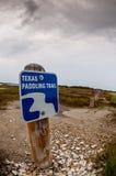 Teksas Paddling śladu znaka Obrazy Stock