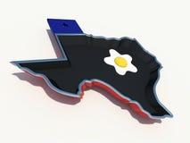 Teksas smaży nieckę ilustracja wektor