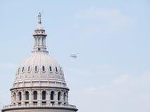 Teksas Stan Capitol flyby Obraz Stock