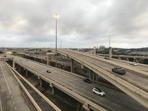 Teksas, stan osamotniony miasto kowboje i gwiazda obraz stock