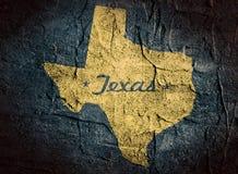 Teksas stanu mapa Fotografia Royalty Free