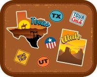 Teksas, Utah podróż majchery z scenicznymi przyciąganiami royalty ilustracja
