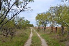 Teksas wiejska droga Zdjęcia Royalty Free