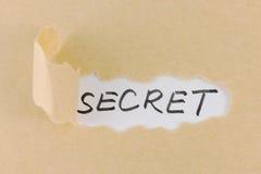 Tekscie papierowy z tajnym tekstem Fotografia Royalty Free