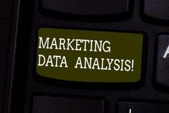 Tekstów dane szyldowa pokazuje Marketingowa analiza Konceptualnej fotografii Zbieraccy dane, dokładnie badać i robią wniosek klaw obraz stock
