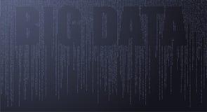 Tekstów Duzi dane, pojęcia sygnał projekt Emituje w przestrzeni - Ilustracyjny wektor ilustracji