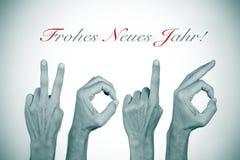 Tekstów frohes neues jahr 2016, szczęśliwy nowy rok 2016 w niemiec Fotografia Stock