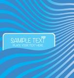 Tekstów pudełka w tło falowym wzorze Fotografia Royalty Free