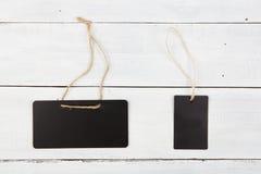 Tekstów pudełka - set puste etykietki Fotografia Royalty Free