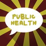 Tekstów szyldowi pokazuje zdrowie publiczne Konceptualna fotografia Promuje zdrowych styl życia społeczność i swój seans ilustracja wektor
