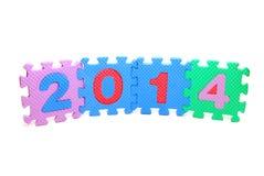 Tekst 2014 Stock Afbeeldingen
