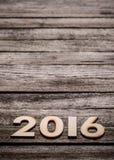 Tekst 2016 Zdjęcie Royalty Free