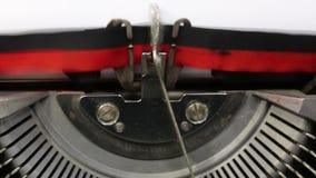 Tekst beste die vriend met de schrijfmachine wordt geschreven stock video
