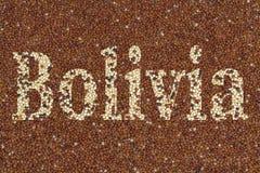 Tekst Bolivië Royalty-vrije Stock Foto