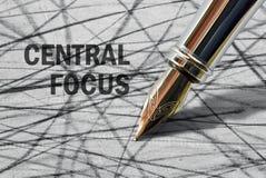 Tekst Centrale Nadruk royalty-vrije stock fotografie