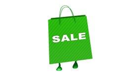 Tekst di camminata di vendita del wtith della borsa, ciclo royalty illustrazione gratis