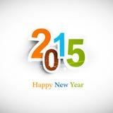 Tekst dla nowego roku 2015 kolorowego projekta Obraz Stock