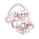 Tekst en krullen in de vorm van Santa Claus Stock Foto's
