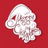 Tekst en krullen in de vorm van Santa Claus Stock Afbeeldingen