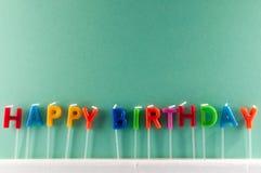 Tekst Gelukkige Birthday Stock Foto