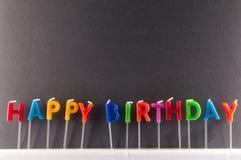 Tekst Gelukkige Birthday Royalty-vrije Stock Foto's