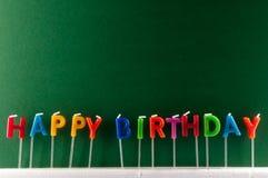 Tekst Gelukkige Birthday Royalty-vrije Stock Afbeelding