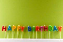 Tekst Gelukkige Birthday Royalty-vrije Stock Foto