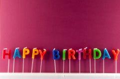 Tekst Gelukkige Birthday Royalty-vrije Stock Fotografie
