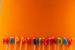 Tekst Gelukkige Birthday Stock Fotografie