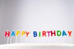 Tekst Gelukkige Birthday Royalty-vrije Stock Afbeeldingen