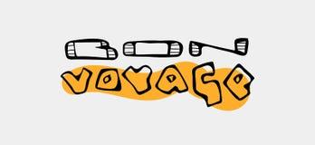 Tekst het reizende slogan van letters voorzien Royalty-vrije Stock Fotografie