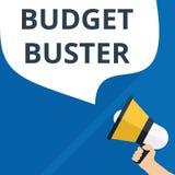 tekst het schrijven Begrotingsbreker stock illustratie