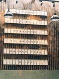 Tekst houten teken op de muur Royalty-vrije Stock Foto