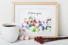 Tekst I houdt van u in een beeld Stock Foto's
