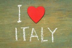 Tekst kocham Włochy Zdjęcie Stock