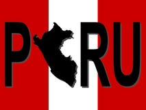 tekst mapy Peru Obraz Royalty Free