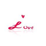Tekst miłość, Valentine& x27; s dnia karta Fotografia Stock