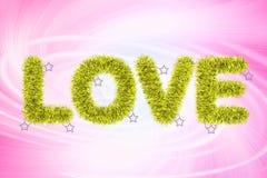 Tekst miłość z świecidełko wzorem Zdjęcia Royalty Free