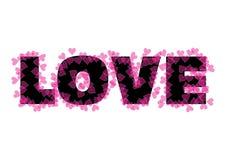 tekst miłości. Zdjęcia Stock
